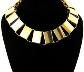 Gold Chain Necklace, Chunky Gold Choker Chain Necklace